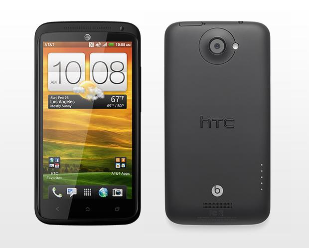 HTC One X+ Front and back of phone - Image copyright HTC