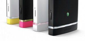 Xperia U bottom caps - Image copyright Sony
