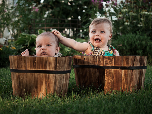 Kids in the garden - photo by Offbeat Photography