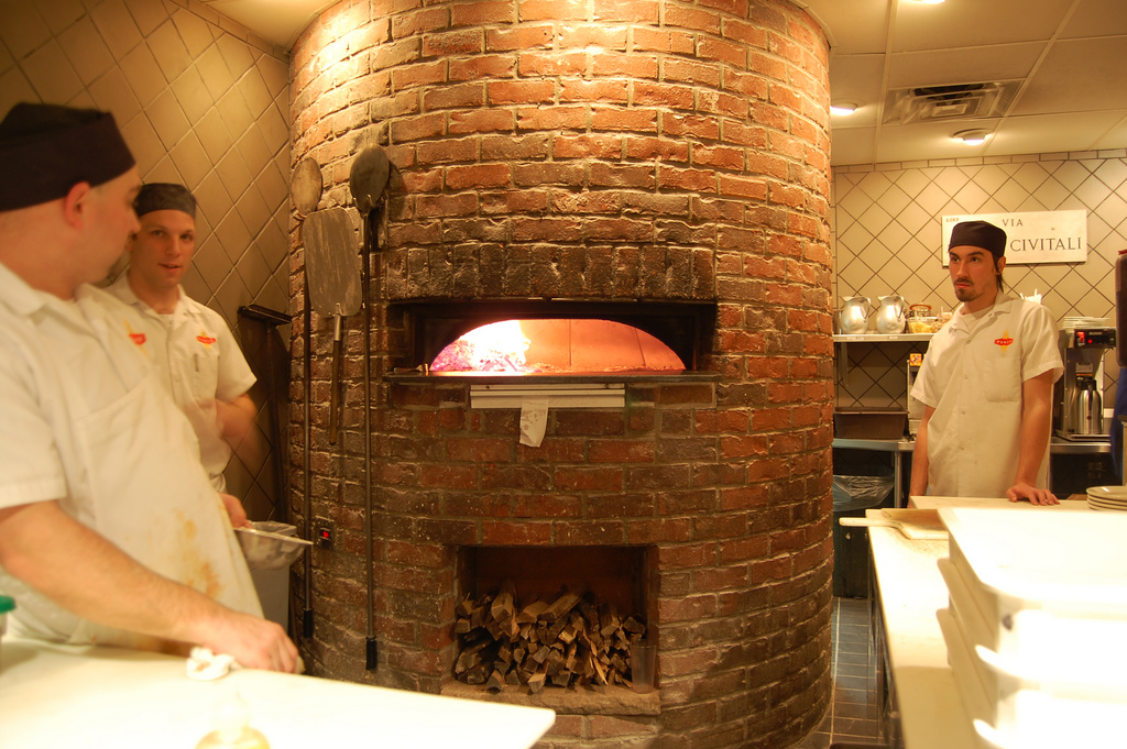 Pizza Oven and Cooks