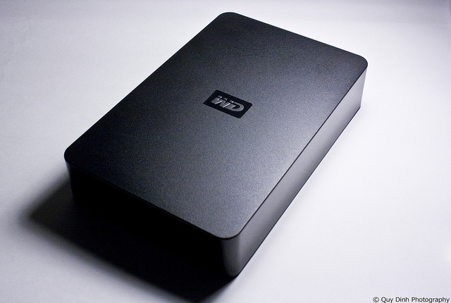 Western Digital Portable Hard Drive - photo by Quy D.