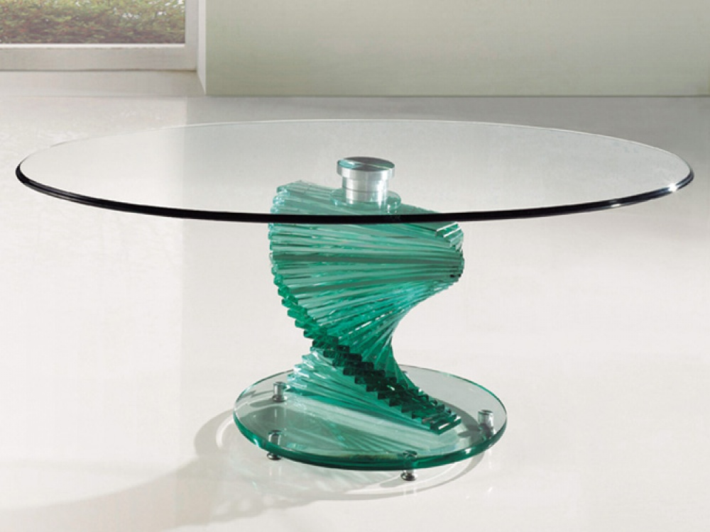Twirl Clear Glass Coffee Table