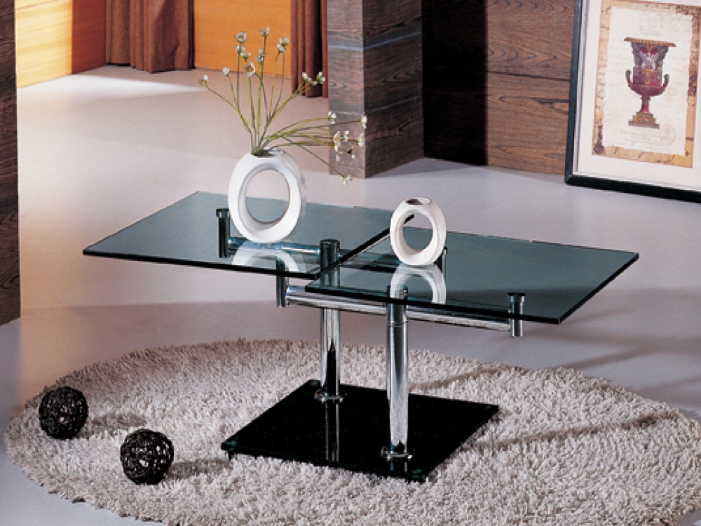 Twister Clear Glass Twisting Coffee Table