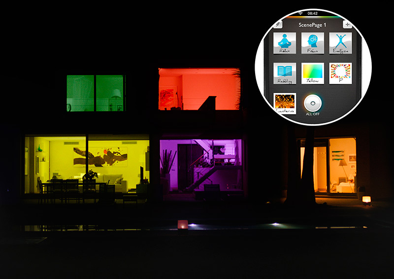 Philips Hue - House viewed from the outside - Image copyright Philips
