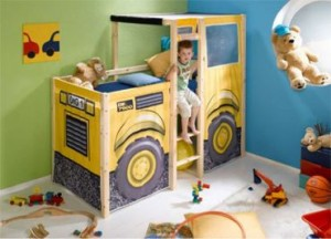 Digger themed novelty bed